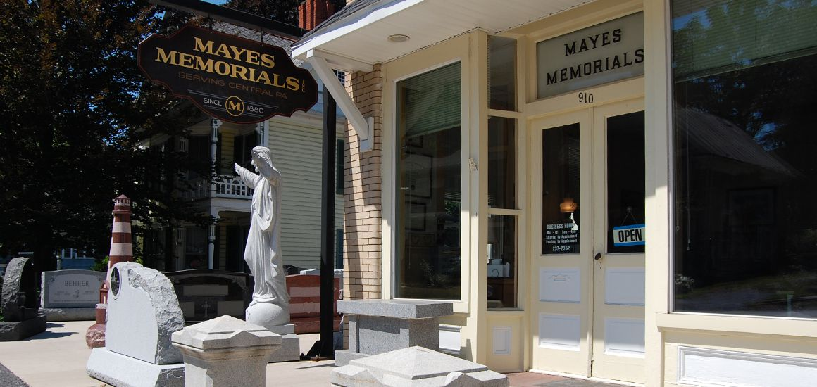 Mayes Memorials is open daily.